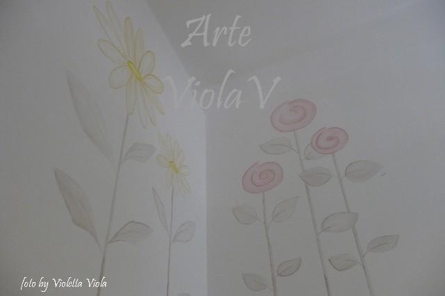 ViolaV decoro murale fiori negozio