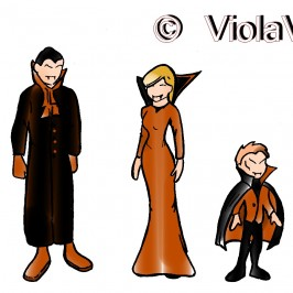 "Illustrazioni Halloween. Una festa in maschera "" I Vampiri """