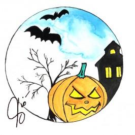 """Illustrazioni Halloween """" La Zucca """""""