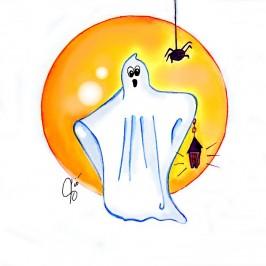 "Illustrazioni "" Il Fantasma "" – Halloween by ViolaV"